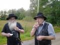 Krister och Karl-Lennart äter glass