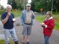 Kjell, PEO och Ulla äter glass